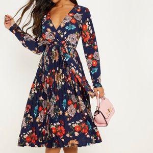 bohemian style floral midi dress